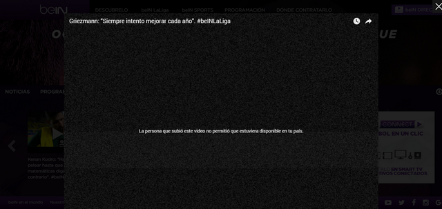 BeIN Sports España - Antes (Sin VPN)