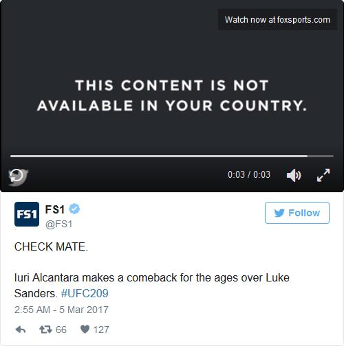 Fox Sports - Antes (Sin VPN)