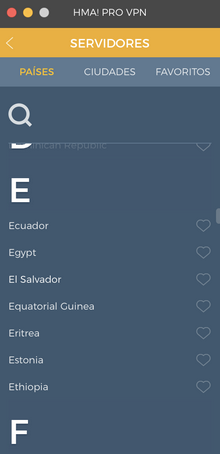 HideMyAss El Salvador