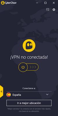 CyberGhost VPN - Conexión 1/2