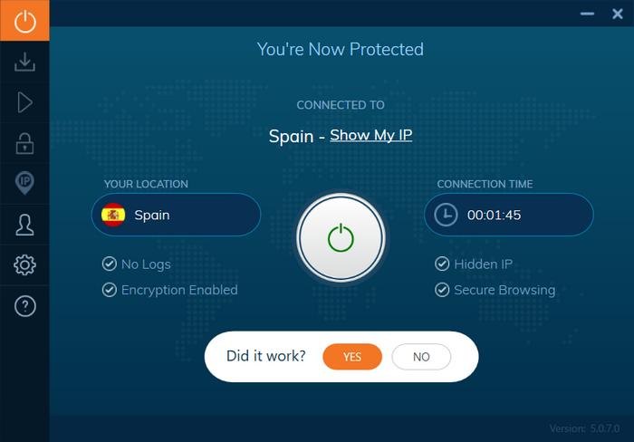 Ivacy - Conectado