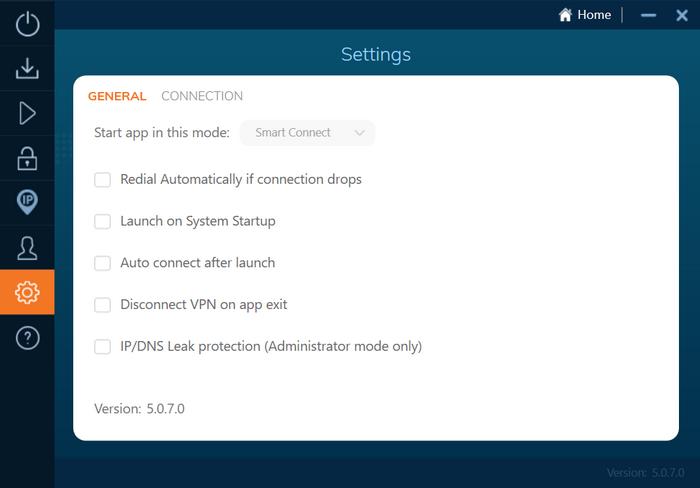 Ivacy - Configuraciones
