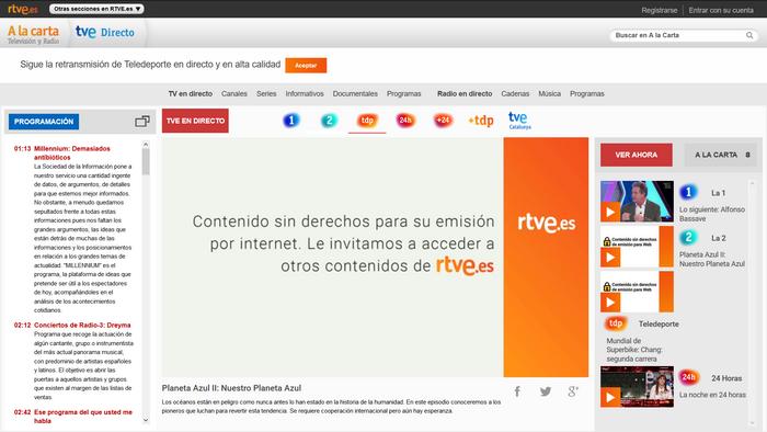 RTVE Antes - Sin VPN