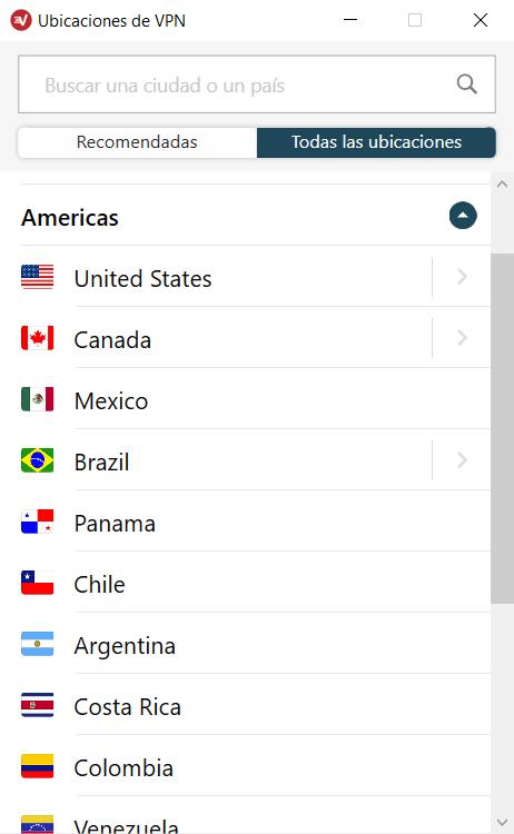 ExpressVPN - Países Disponibles