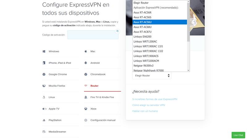 Instalar ExpressVPN Router