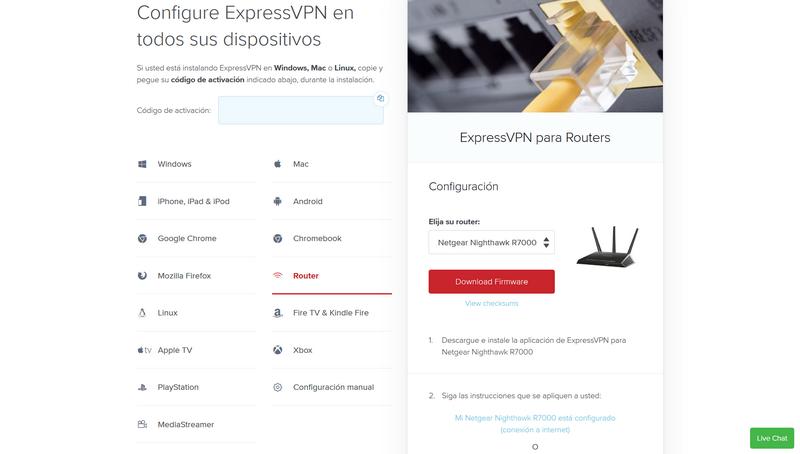 Instalar ExpressVPN Router Aplicación