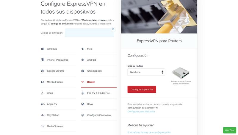 Instalar ExpressVPN Router Original