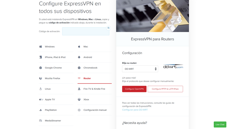 Instalar ExpressVPN Flash