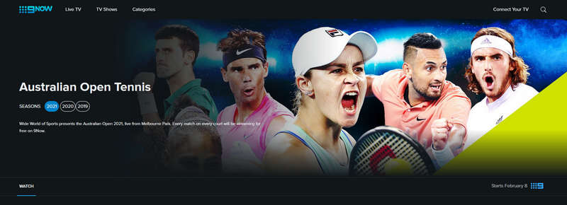 Australian Open en Channel 9