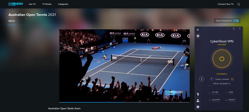 Ver el Abierto de Australia en Channel 9