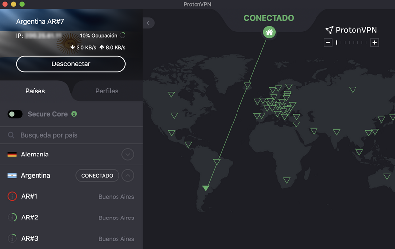ProtonVPN - Conectado