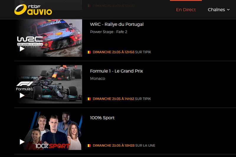 GP de Mónaco en RTBF