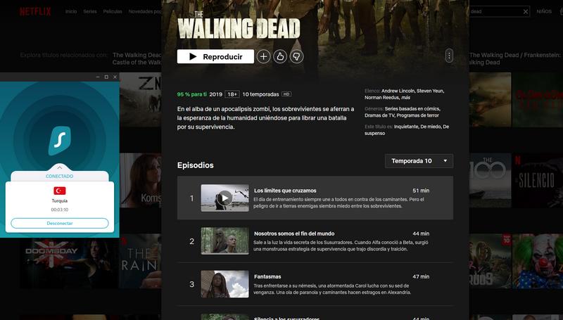 The Walking Dead S10 en Netflix