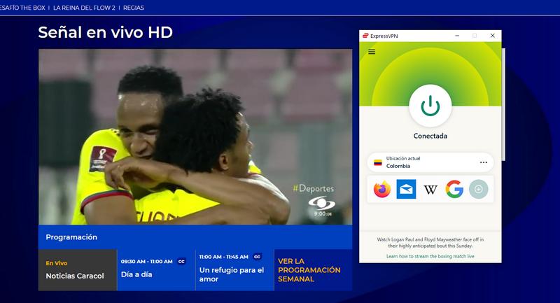 Caracol TV fuera de Colombia, con ExpressVPN