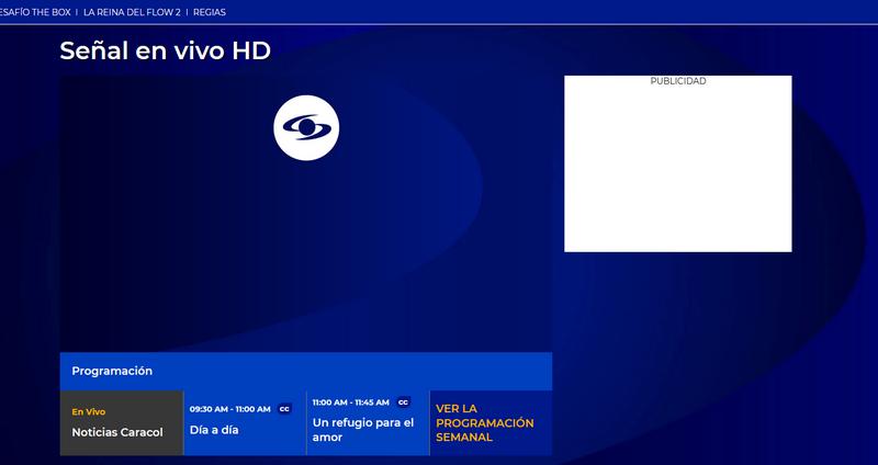 Caracol TV fuera de Colombia, sin VPN