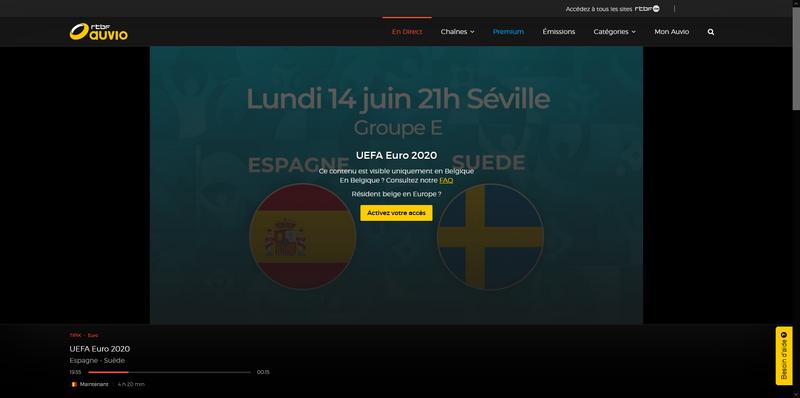 RTBF fuera de Bélgica, sin VPN
