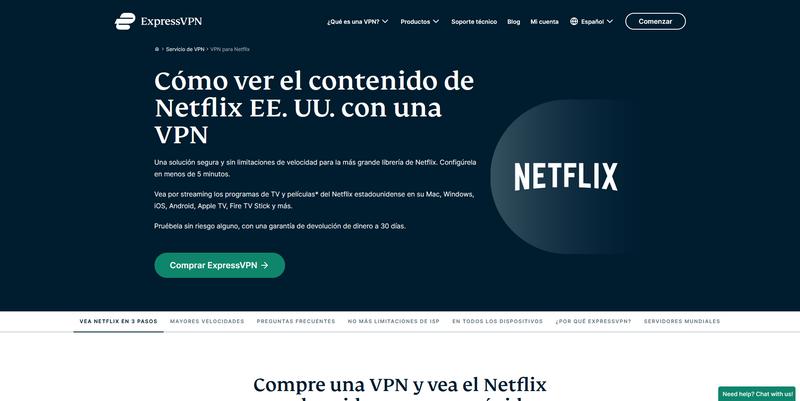 ExpressVPN para Netflix