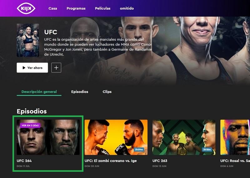 Poirier vs McGregor en KIJK, un canal gratuito holandés