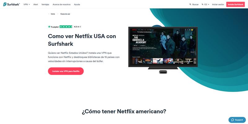 Surfshark para Netflix