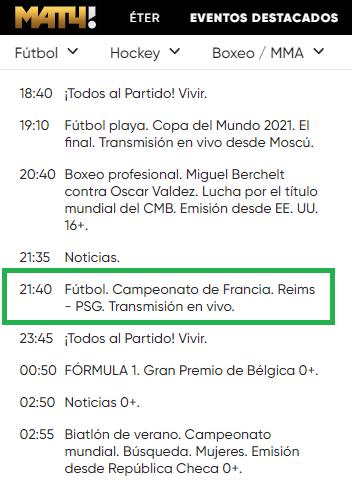 Ligue 1 en Match TV