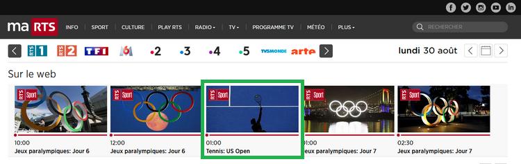 US Open en RTS
