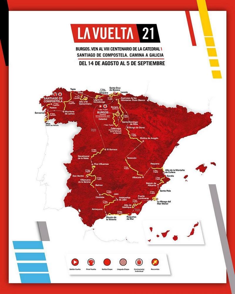 Vuelta 2021 - Recorrido